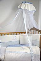 Детский постельный комплект Veres Sweet Bear 7 единиц (Беж/Голубой/Розовый), арт.145.02