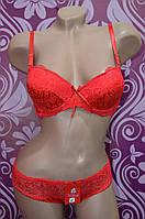 Женское нижнее белье Weifeng,красный комплект