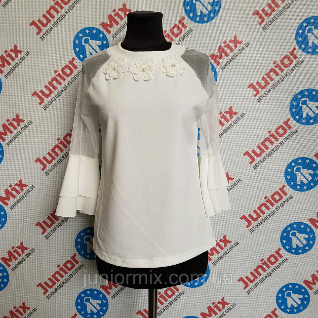 Детская блузка з шифоновыми рукавами на девочек ИТАЛИЯ