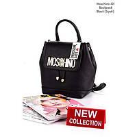 Черный женский рюкзак эко-кожа Moschino