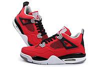 Nike Air Jordan 4 Retro Red/White-Black Nubuck
