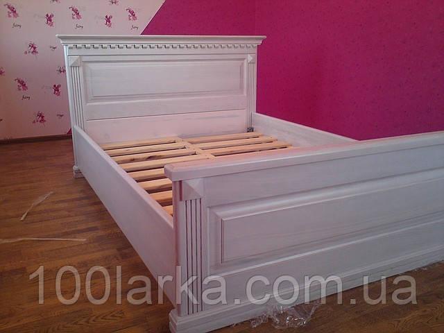 Спальня деревянная кровать массив ясеня