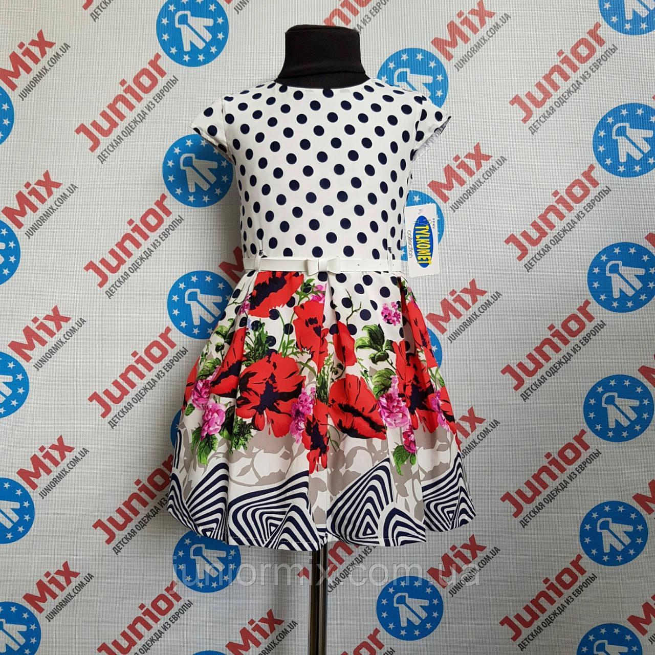 Детское платье на девочку  в маки TYLKOMET ПОЛЬША