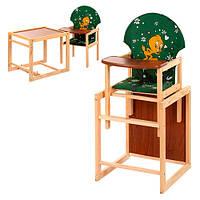Детский стульчик-трансформер  М V-010-22-7, зеленый