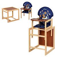 Детский стульчик-трансформер  М V-010-24-6, синий