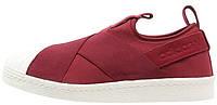 Женские слипоны Adidas Superstar Slip-on (Адидас Суперстар) бордовые