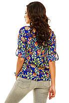 Ж175 Рубашка женская цветы в расцветках, фото 3