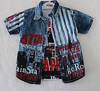 Рубашка +футболка на мальчика 1,2,3 года