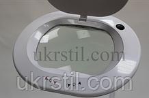 Лампа-лупа 6028 LED 3D с регулировкой яркости белый холодный и теплый свет