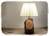 Настольный светильник натуральное дерево яблоня, фото 1