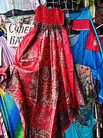 Женская молодежная атласная туника сарафан