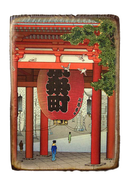 "Картина декупаж ""Япония-Китай"""