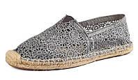 Женские эспадрильи слипоны Toms Lace Grey
