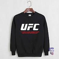 Свитшот UFC черный с логотипом, унисекс (мужской,женский,детский)