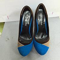 Туфли женские  замшевые цветные на каблуке Mirex