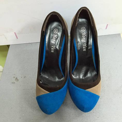 Туфли женские  замшевые цветные на каблуке Mirex, фото 2