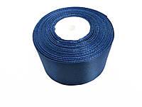 Лента атласная 5см синяя 36 ярдов,купить оптом и в розницу