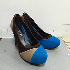 Туфли женские  замшевые цветные на каблуке Mirex, фото 3
