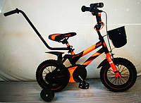 """Детский двухколесный велосипед 12 """"HAMMER"""" S500 Черно-Оранжевый, фото 1"""