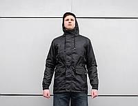 Куртка парка демисезонная beZet spring all black черная