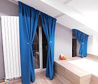 Текстильное оформление 2-х уровневой квартиры (нестандартные окна) Комфорт Таун 8