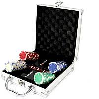 Покерный набор на 100 фишек c пластиковыми картами Pocker Club