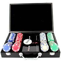 Покерный набор на 200 фишек и пластиковые игральные кары Pocker Club