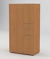 Функциональный распашной шкаф с современным дизайном. Модель Шкаф-19 от фабрики Компанит