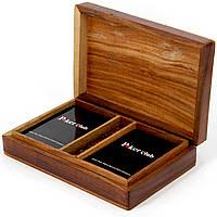 Пластиковые игральные карты Poker club в подарочном футляре WB-114R