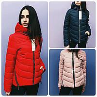 Куртка женская демисезонная с замками