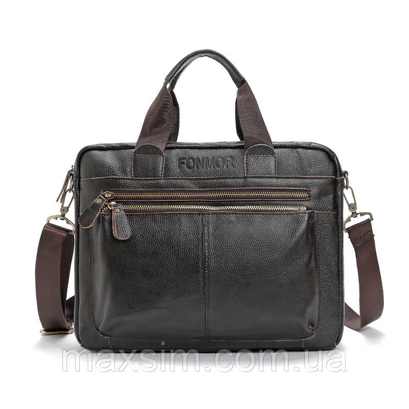 f909993c637c Мужской кожаный портфель Fonmor из натуральной кожи для документов,  ноутбука, планшета -