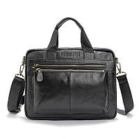 Мужской кожаный портфель  Fonmor из натуральной кожи для документов, ноутбука, планшета