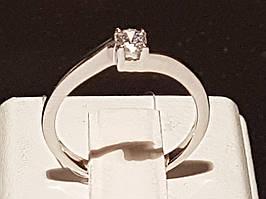 Срібне кільце з фіанітом. Артикул 901-00781 16
