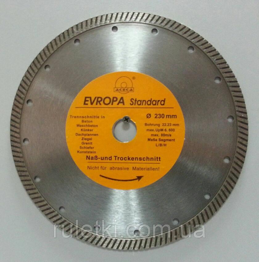 Алмазный диск ACECA 180 *22,2мм. турбо