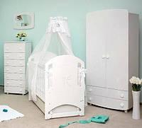 Детская кроватка Соня ЛД 8 маятник (декор резьба Мишка со стразами)