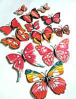 Бабочки на магните и липучке 12шт ассорти