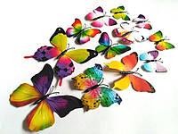 Декоративные бабочки на холодильник 12шт