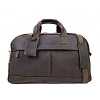 Сумка кожаная дорожная TIDING BAG G9652B коричневая
