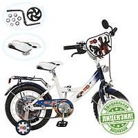 Велосипед детский 12 дюймов GR 0001 цвет бело-голубой
