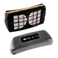 Комплект 837301 противогазового фильтра ADFLO: А1В1Е1 фильтр и батарея Li-Ion повышеной емкости