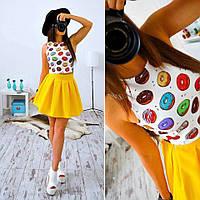 Костюм топ и юбка, дизайн и цвета в ассортименте