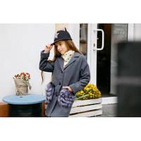 Пальто для девочки кашемировое стильное Пушинка серое,детская одежда