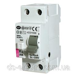 Реле дифференциальное (УЗО) EFI6-2 63/0,03 тип AC (6kA)