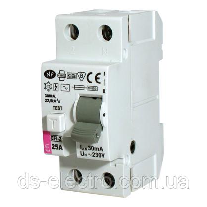 Реле дифференциальное (УЗО) EFI-2 63/0,1 тип AC (10kA)