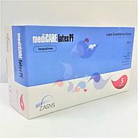 Перчатки латексные, текстурированные, неопудренные, Белые (100шт/уп) mediCARE ZARYS