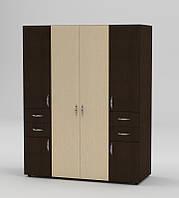 Удобный, многофункциональный шкаф из ламинированной ДСП. Модель Шкаф-20 от фабрики Компанит