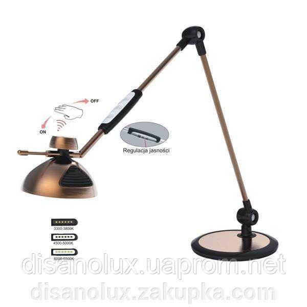 Настольная лампа DL1217 темно серая LED 10W
