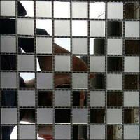 Зеркальная мозаика бронза ZM-04 шахматка
