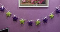 Декор звезды на день рождения гирлянда, фото 1
