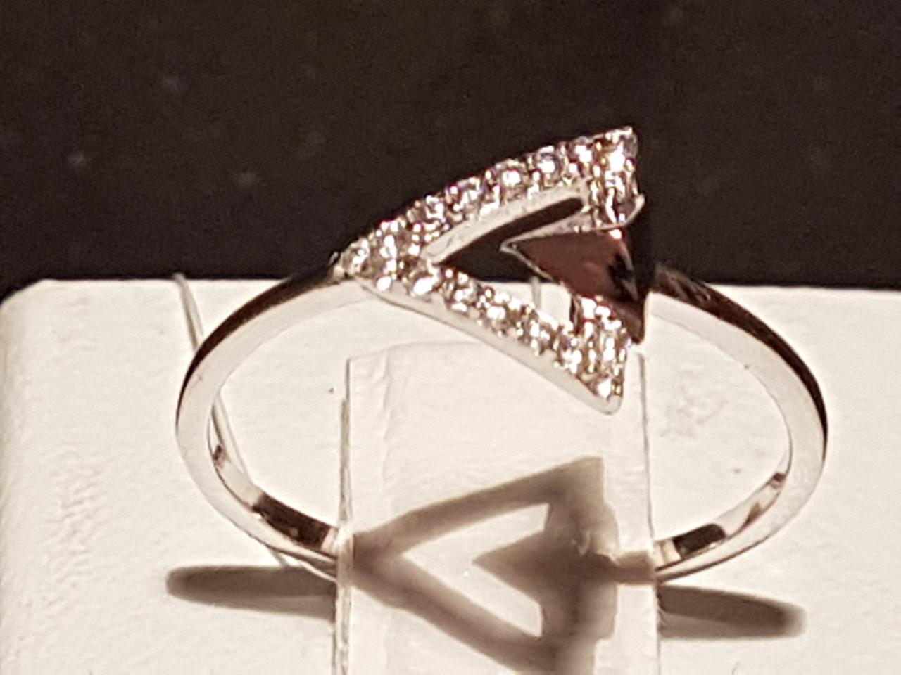 Срібне кільце з фіанітами. Артикул 901-00874 15